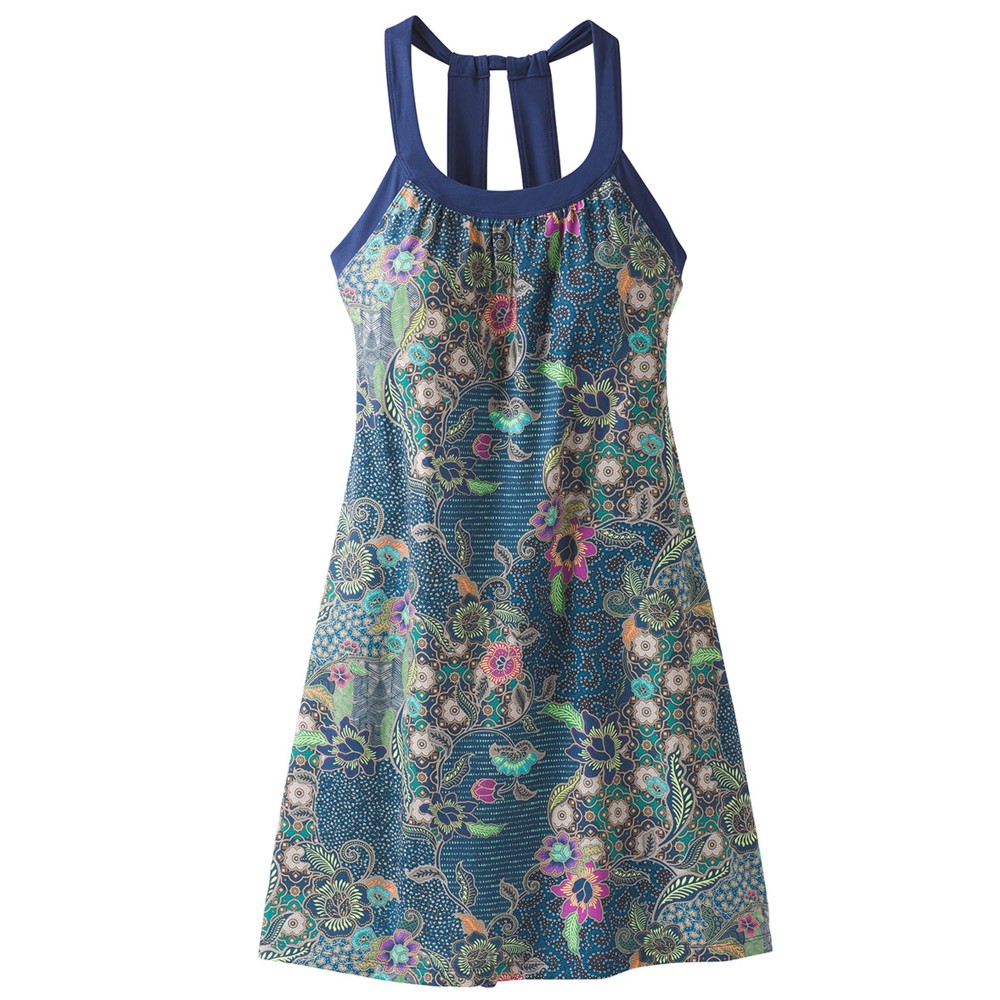 Prana Cantine Dress Womens Blue Anchor Kona