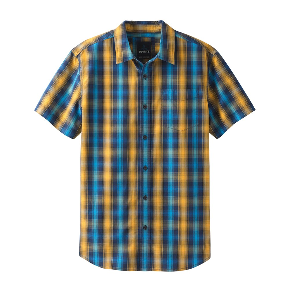 Prana Mick Shirt Mens Blue Anchor