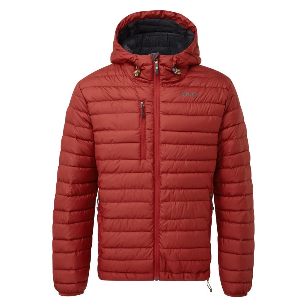 Sherpa Nangpala Hooded Jacket Mens Potala Red