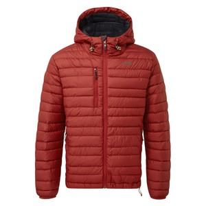 Sherpa Nangpala Hooded Jacket Mens in Potala Red