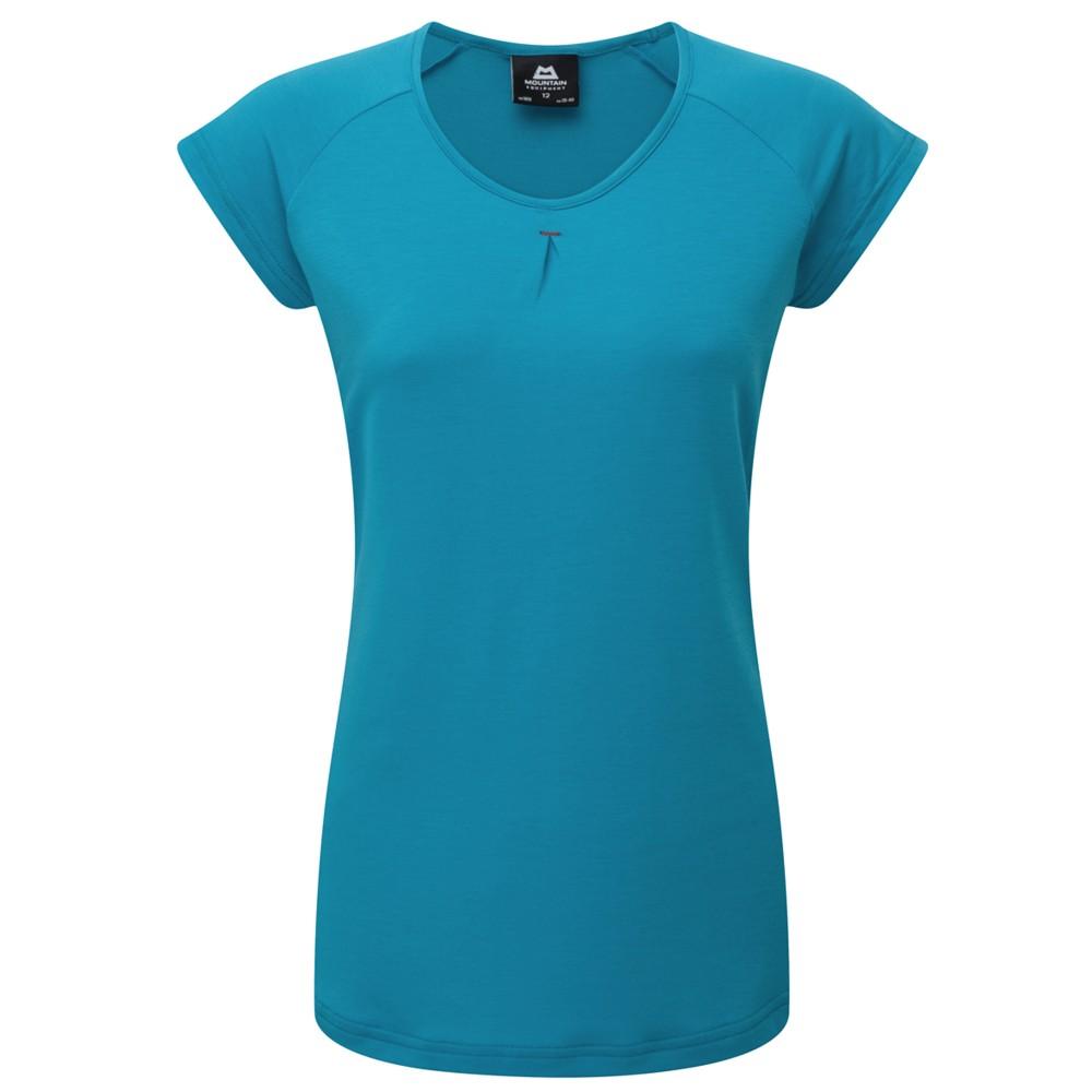 Mountain Equipment Equinox Tee Womens Digital Blue