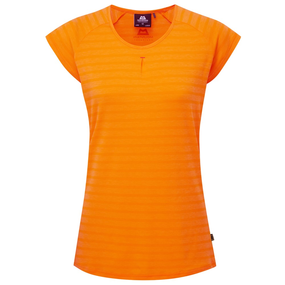 Mountain Equipment Equinox Tee Womens Orange Sherbet Stripe