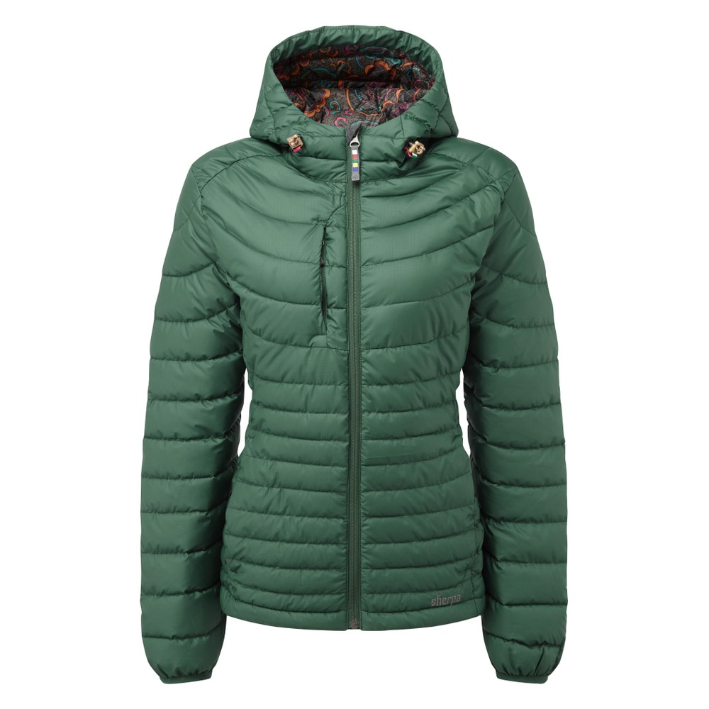 Sherpa Nangpala Hooded Jacket Womens Rathna green