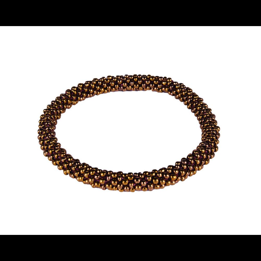 Sherpa Mayalu Solid Roll On Bracelet Antique Brass