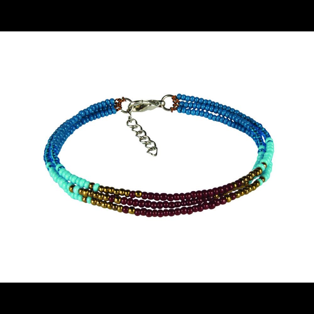 Sherpa Mayalu Three Wire Bracelet Blue Tara