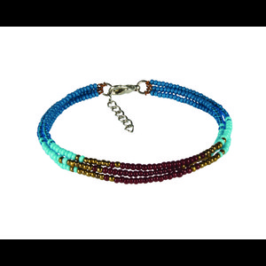 Sherpa Mayalu Three Wire Bracelet in Blue Tara