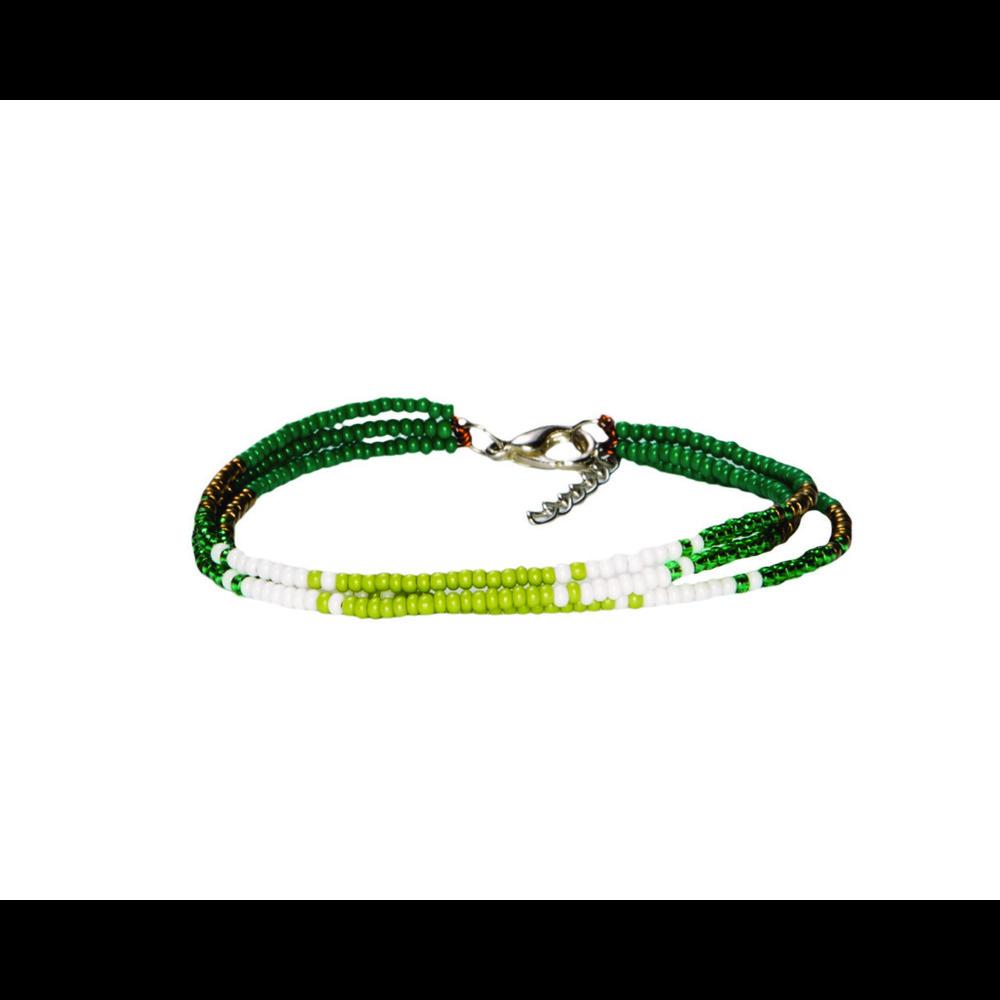 Sherpa Mayalu Three Wire Bracelet Gokarna Green