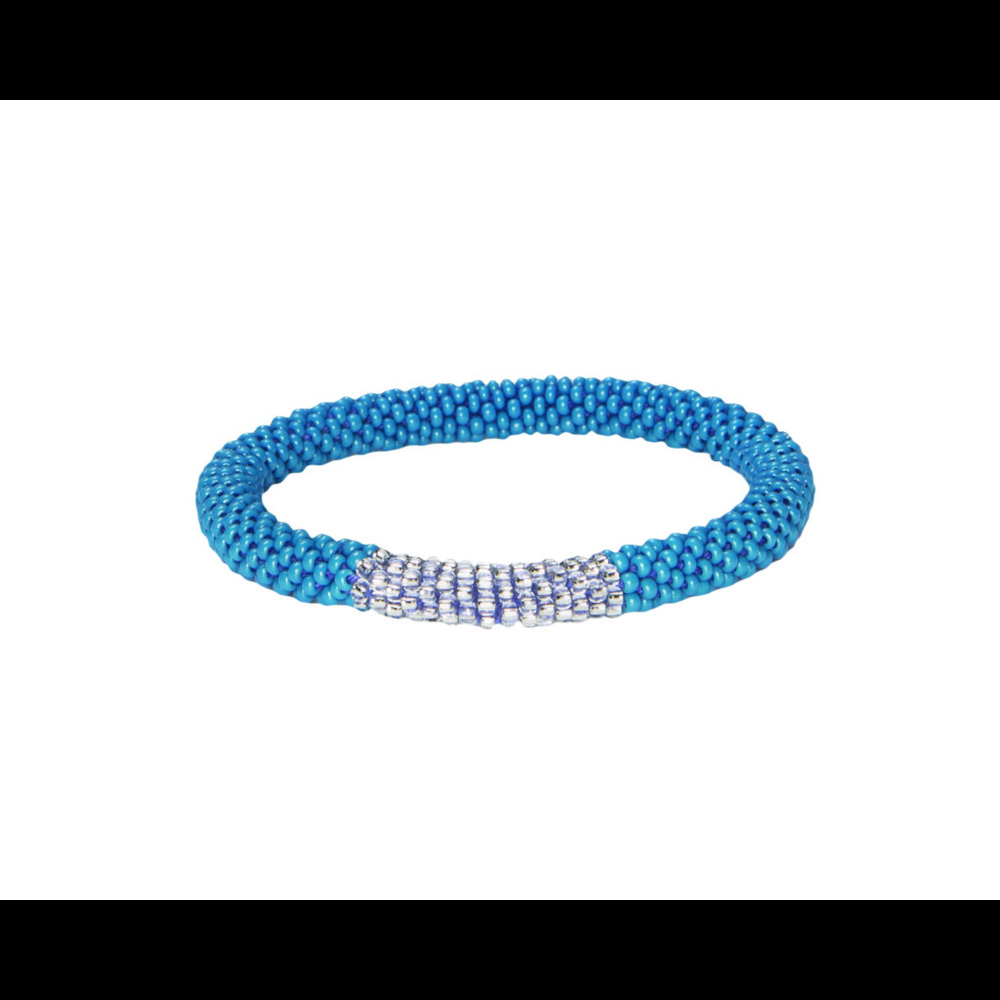 Sherpa Mayalu Block Roll On Bracelet Blue Tara