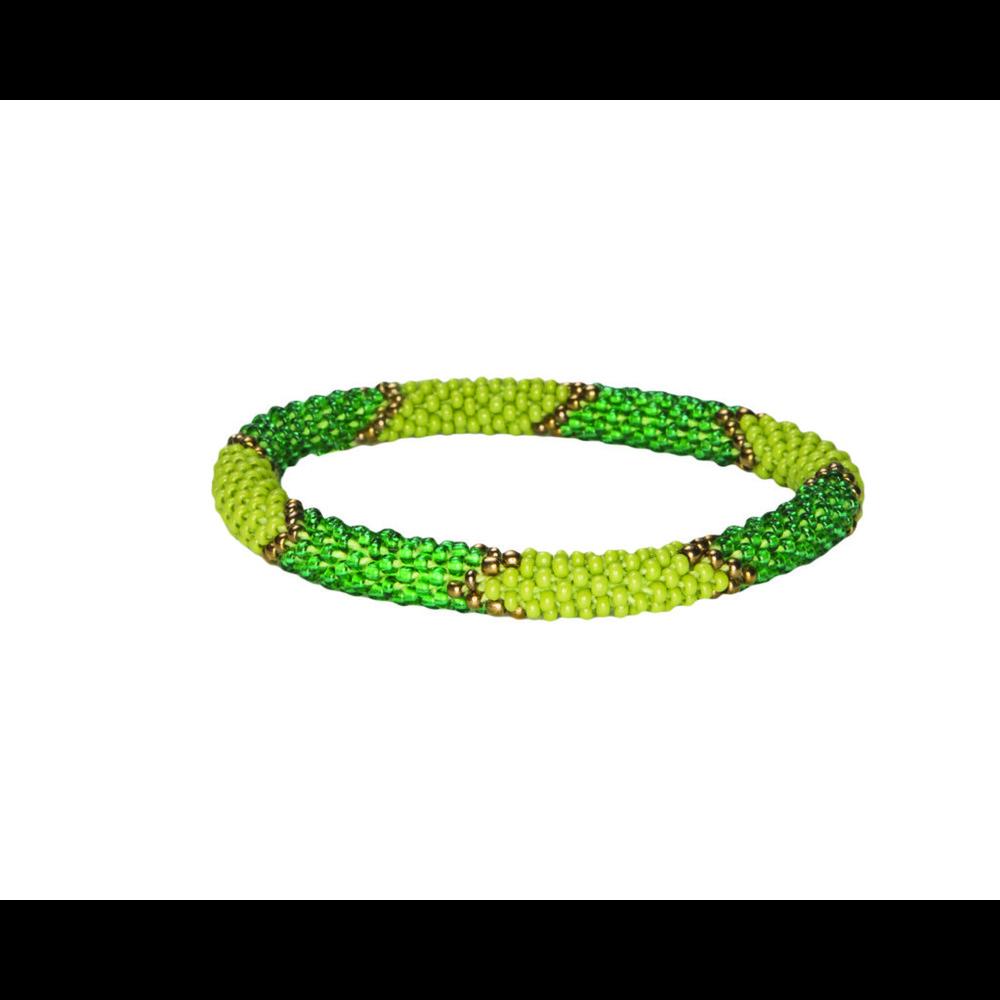 Sherpa Mayalu Ikat Roll On Bracelet Gokarna Green