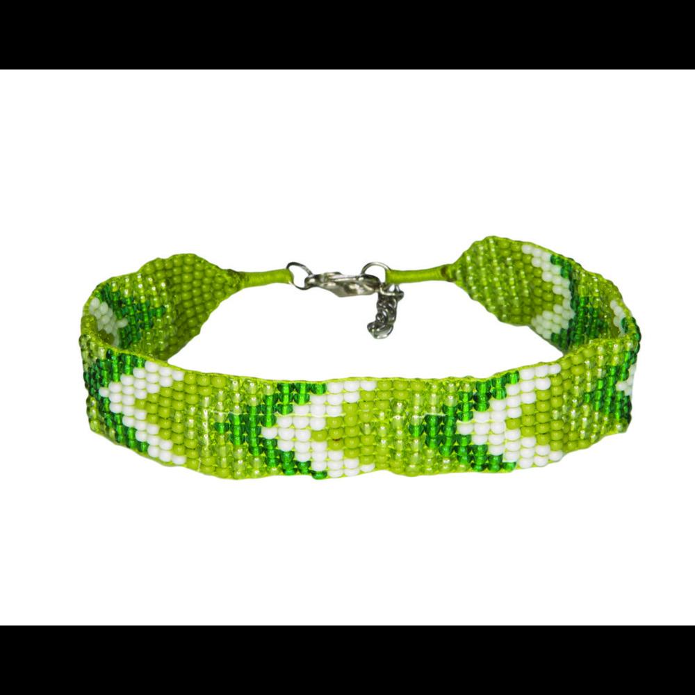 Sherpa Mayalu Chevron Bracelet Gokarna Green