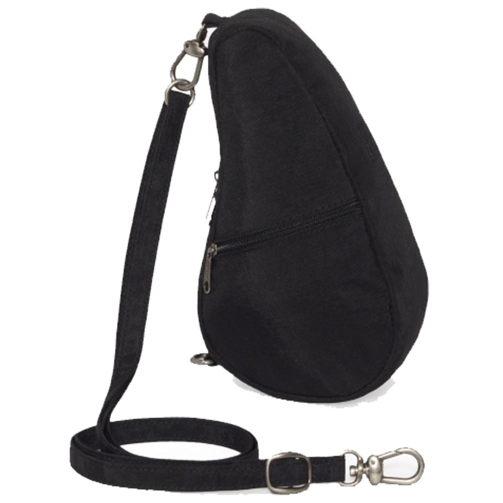Healthy Back Bag Textured Nylon Baglett Black