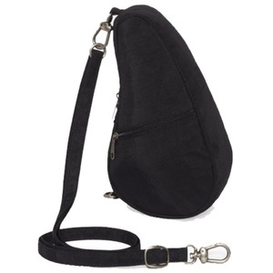 Healthy Back Bag Textured Nylon Baglett in Black