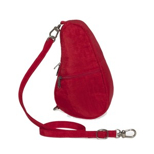 Healthy Back Bag Textured Nylon Baglett in Crimson