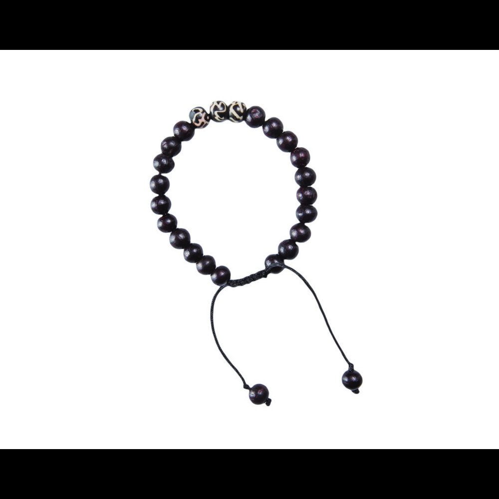 Sherpa Mala Three Stone Bracelet Black