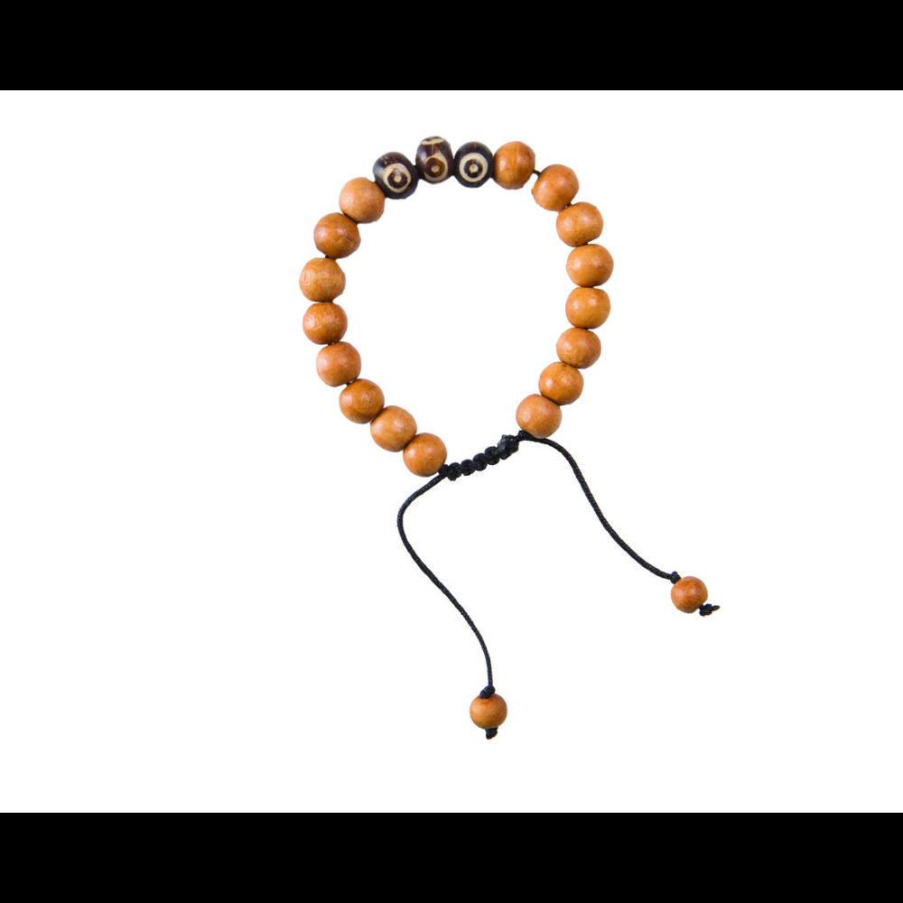 Sherpa Mala Three Stone Bracelet Tan