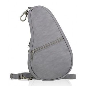 Healthy Back Bag Textured Nylon Baglett in Pebble Grey